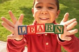 Preschool Child with LEARN Blocks