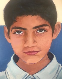 - Montville Township High School senior Bessma Abuoliem painted this portrait for a child in Pakistan. The gift was arranged through The Memory Project to break cultural barriers and show children living in difficult situations that they are valued.