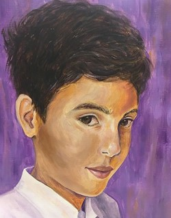 Montville Township High School senior Cindy Xie painted this portrait for The Memory Project. The organization asks high school artists to help build cultural understanding and provide empowering memories for children living in challenging circumstances.