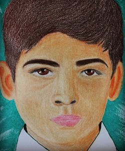 Cristin Navarrete Carpizo - Cristin Navarrete Carpizo, a senior at Montville Township High School painted this portrait in the MTHS Visual Art IV class. The portrait was given to the child in the portrait by The Memory Project to help create a kinder world through art.